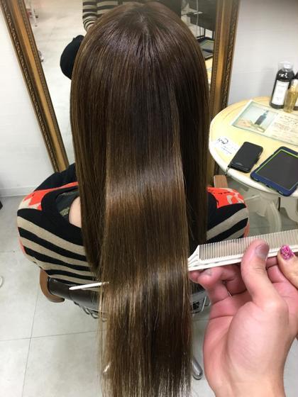 ブリーチハイライトでも優しい薬剤と髪質改善トリートメントでダメージレスのサラサラツヤツヤな美髪❗️ 美髪ケア 秋山圭司の