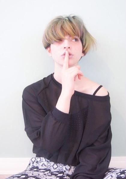 パステル系のカラーコントラストで 柔らかいスタイルを表現しました☆ atelier  porto所属・藤本稔のスタイル