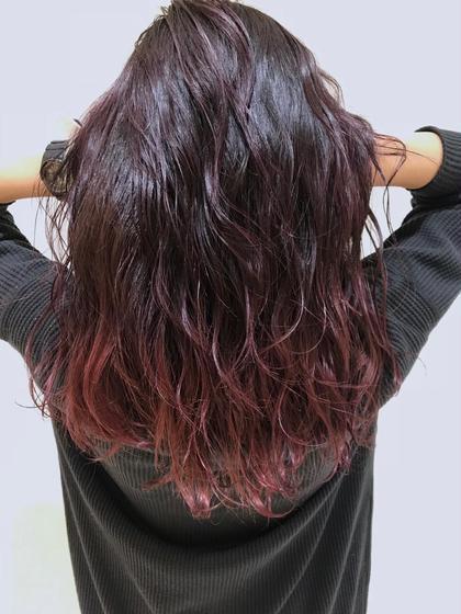🌈❤️💜外国人風グラテーションカラー➕髪質改善トリートメント➕バングカット➕ブロー料金込み❤️💜🌈