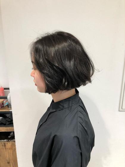 【就活生・黒髪志向の方におススメ❗️】黒染めでないダークグレーカラー+毛髪キューティクル補修トリートメント