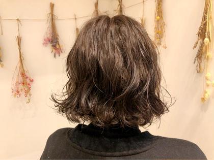 朝が楽❣️カット & ゆるふわパーマ+毛髪補修トリートメント✨