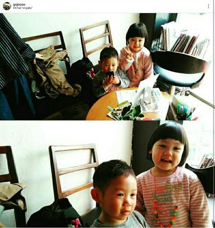 かわいいお姉ちゃんと弟君笑 キッズカットもお気軽に✂ 公庄 グジョウ 隆  タカシのキッズヘアスタイル・髪型
