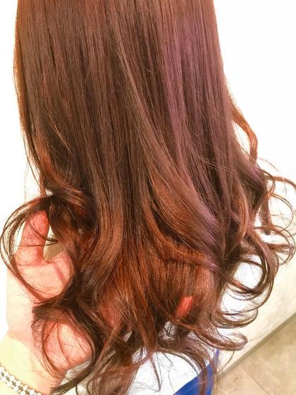 カラー ロング ピンクブラウン! 春夏には人気のカラーです☆