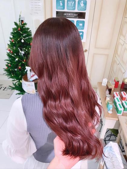 【🤎ブリーチなしWカラー🐰】髪質改善トリートメント付き!ブリーチのダメージなしで透明感カラー!