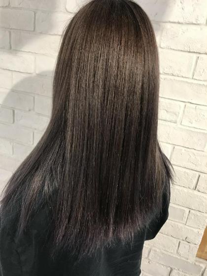 《トリートメントでより艶髪に❇️》ナチュラルカラー&Aujuaトリートメント