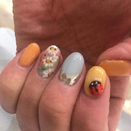 てんとう虫つけた( ̄▽ ̄) Nail Salon MELROSE所属・山口理絵のフォト