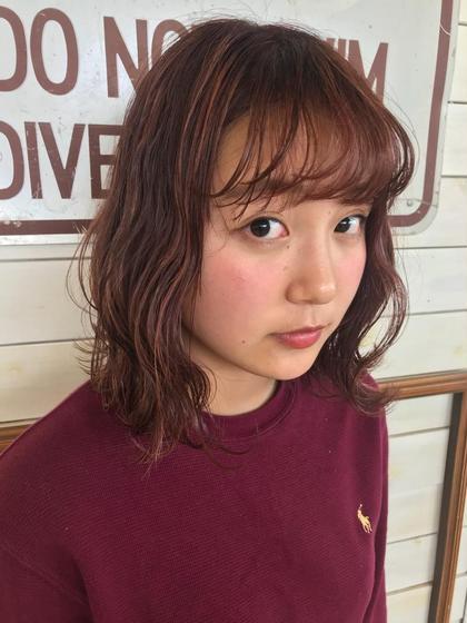 人気No.3毎朝楽ちん❤︎カット+前髪パーマ+炭酸泉