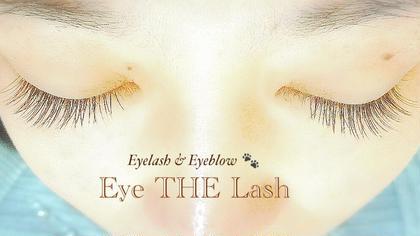 シングルラッシュ 120本。目の形に合わせてナチュラルだけど、目が大きく見えるように仕上げてます。 Eyelash&EyebrowEye THELash所属・EyeTHELashのスタイル