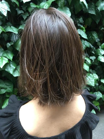 切りっぱなしボブx暗髪ブルー  夏時期にピッタリ! MichioNozawaHAIRSALONGinza所属・モリケイタのスタイル