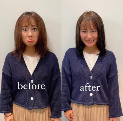 🍓髪質改善メニュー🍓サイエンスアクア+ケアカラー+4stepTR🐰ダメージ最小限❣️広がる髪をまとまる髪に💓