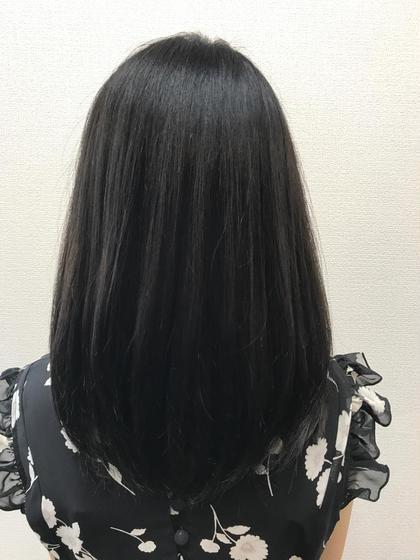 透明感黒染めカラー(ロング料金込み)