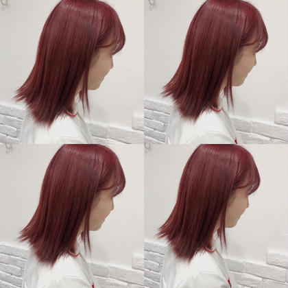 カラー ミディアム RED velvet