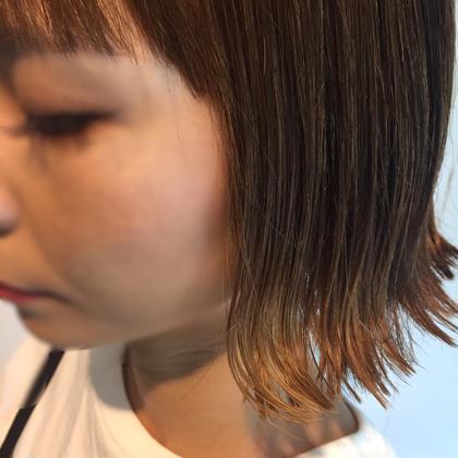 切りっぱなし☆肩上の外ハネstyle✂︎ écru所属・古宇田純花のスタイル
