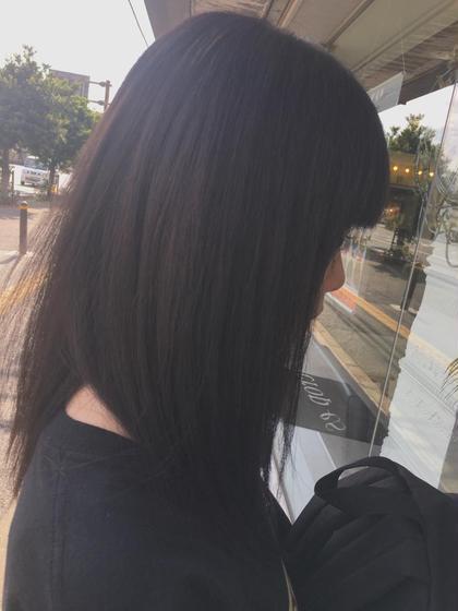 ブリーチで抜けた色も綺麗に染まります💎 矢野文香のロングのヘアスタイル