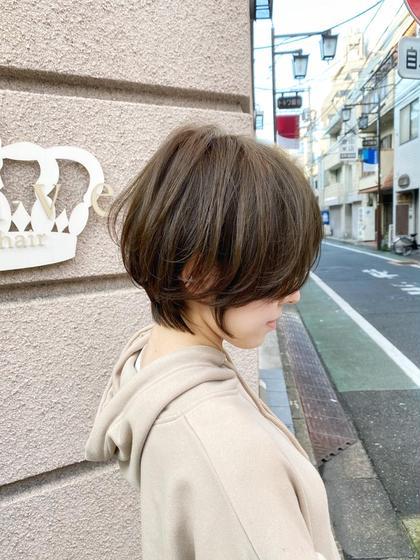 ⭐️人気No.1メニュー⭐️小顔似合わせカット+透明感カラー+トリートメント【ショートorショートボブ限定】