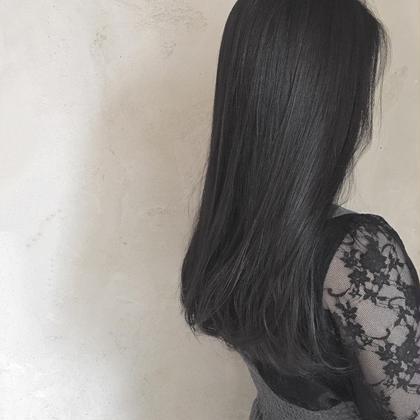 ロング おすすめのヘアカラー♡黒染めではないです!!