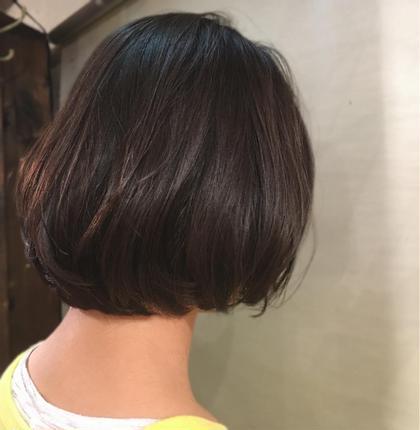 ✂︎✂︎✂︎愛されモテボブ✂︎✂︎✂︎  アイロン仕上げ  乾かすだけで内に入るスタイルです🤗 普段乾かすだの方にもおすすめです❤️  アイロンで毛先を少し丸めてあげるだけで動きもでて、ふわっと可愛くなるスタイルです💁♀️ 可愛めのスタイルが好きな方にはぴったりです❤️  ぎりぎり結べる長さになってます💁♀️