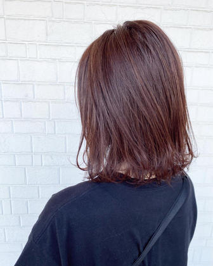 ダメージレス⭐️艶カラー