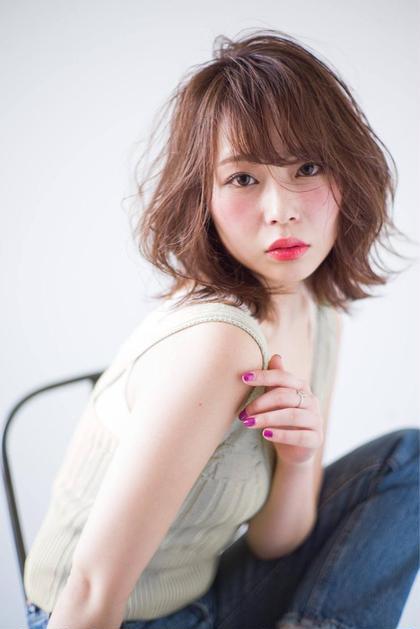 【オシャレ度UP】小顔カット+潤いカラー+ポイントインナーカラー
