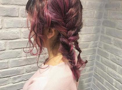 ピンクハイライト&ラズベリーピンク