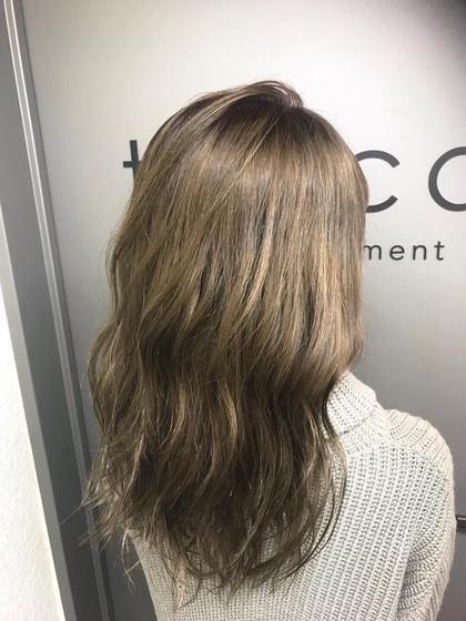 カラー セミロング cut / high beige / tokio✂︎ ベース.ブリーチ3回〜