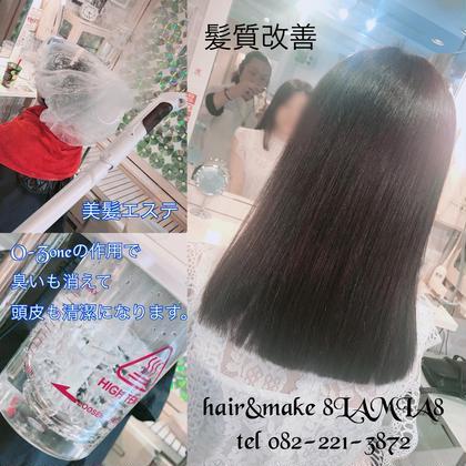 https://t.co/8qVpFR0Qxi メニューはこちら↑  髪質改善 美髪エステ 傷んだ髪を復活させて約1カ月持続! さらに O-Zoneの作用で頭皮の臭いも消えます!  #広島 #8LAMIA8 #美容院  #ヘアカラー#ヘアエクステンション  #ヘアセット #ヘアアレンジ#メイク#編み込みエクステ#シールエクステ#JHSS広島校#ヘアメイクスクール #広島市中区 #広島美容室 #広島市美容室 #ミニモ#アットコスメ  hair&make 8LAMIA8(ラミア)   TEL 082-221-3872