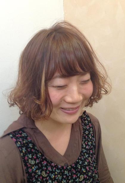 ナチュラルメッシュ セミウエットボブ coupe hair所属・田邊仁美のスタイル