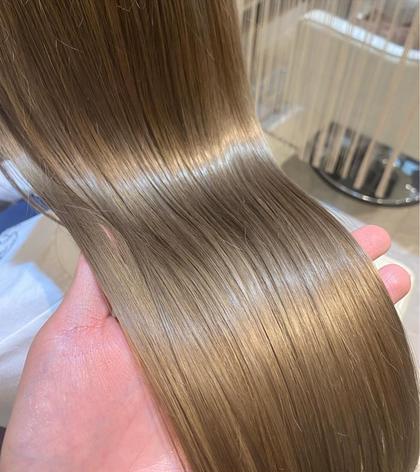 【誰よりもサラツヤに】🌟 似合わせ小顔カット+透明感フルカラー+最高級☆毛髪強度回復140%TOKIOトリートメント