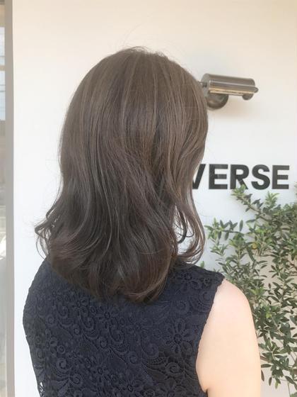 カラー ☀透明感アッシュ☀  夏のダメージケアは超音波で艶髪に😊