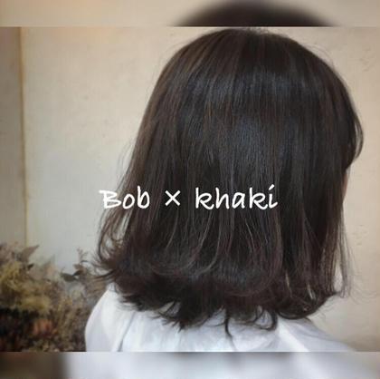⭐️ レイヤーボブ ⭐️  キュートな印象の、前上がりのボブ! トップにレイヤーも入れているので 巻くのも楽しいです🙋🏻♂️✨  落ち着いたカーキがよく似合う🥺!  > cut < > color < > treatment < ramphy  hair atelier所属・🌿春日井・小牧🌿ニシモトのスタイル