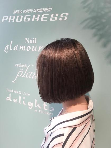髪の毛に良くないのは日頃の自然乾燥だったりさまざまですが、ダメージの少ないものでもアルカリ剤なので髪の毛が良いとされる、弱酸性のカラーでお客様のダメージを最小限に仕上げています。何かあればスタッフにご相談ください。 PROGRESSフレスポ富沢所属・斎藤相慶のスタイル