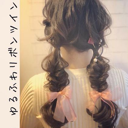 リボンツインテール 女子会やアイドルのイベント もちろんジャニヲタさんにもオススメ❣️ ❤︎ヲタク美容師❤︎のヘアアレンジ