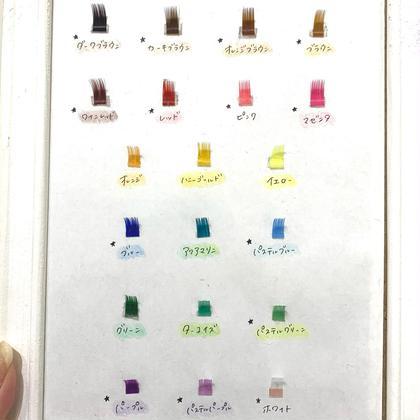 【新規】4・5月限定🌸カラーエクステ80本¥4500!全20色mixし放題🤍(モデル価格でご来店済の方も可◎)