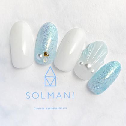 夏ネイルプラン♡ SOLMANI予約担当のネイルデザイン