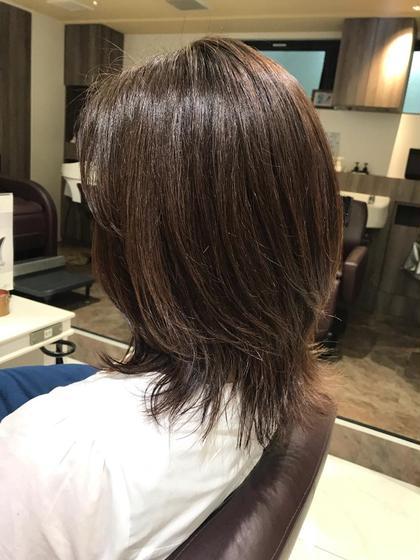 【根元をふんわりさせたい❗️】ダメージレスなファイバープレックスカラーで明るい白髪染め✨