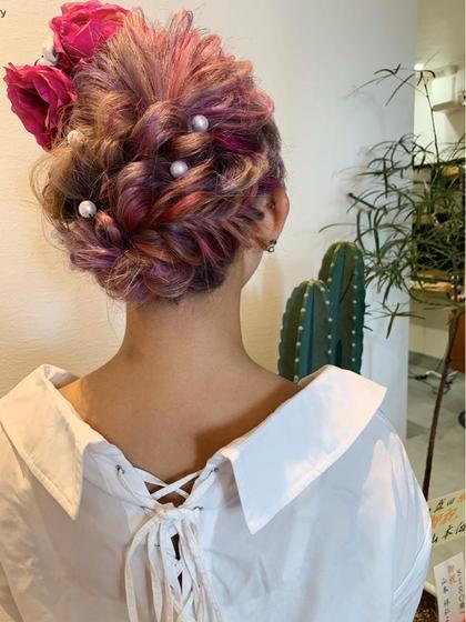 ヘアアレンジ❁❁ 髪飾りも販売しております💕💕💕