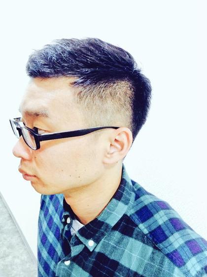 お祭りのためにかなりサイドを刈り上げましたが、全体的に髪が短いので、そこに馴染むようにカットしました! ヒロ銀座ヘアーサロン並木通り店所属・HONDAsachikoのスタイル
