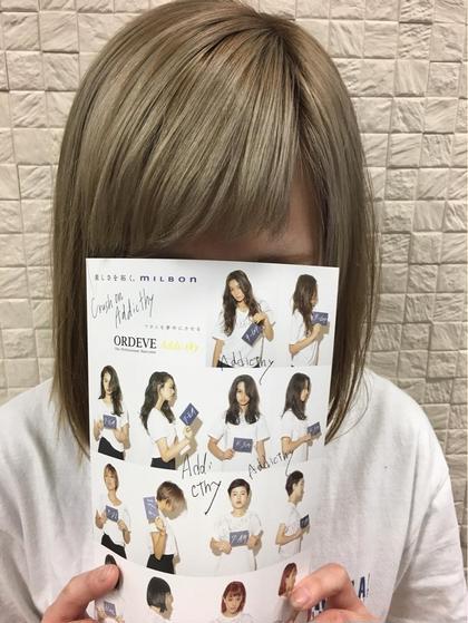 アディクシーカラー♪ ブリーチあとに♪ PRIMAL(プライマル) 稲毛店所属・大澤美樹💇♀️店長のスタイル