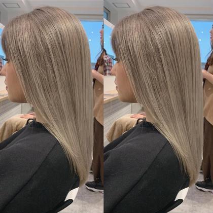 新規のみ✨ケアブリーチ込みダブルブリーチ+髪質改善トリートメント付きミルクティーカラー