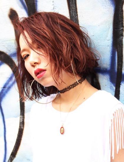 切りっぱなしボブ ✖️ ベリーピンク tlony所属・iyodakosukeのスタイル