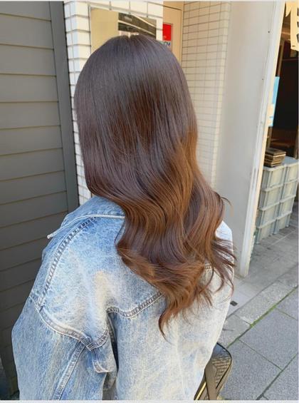 #ミニモ限定価格 前髪カット+うる艶カラー+超音波3stepトリートメント(ロング料金なし)上野