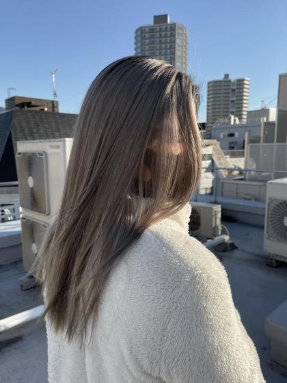 🏃♀️夏の準備に💨【minimo限定】👑髪質改善カラー👑➕メンテナンスカット✨5ステージトリートメント 仕上げ