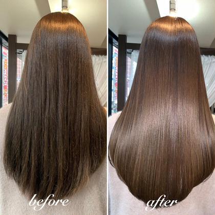 カット+イルミナフルカラー+髪質改善ウルトワ水素トリートメント✨