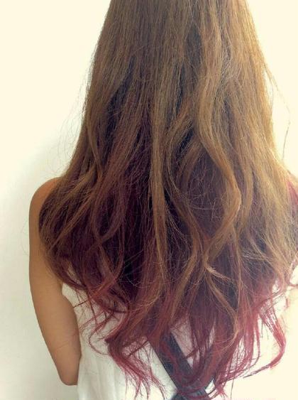 赤のグラデーションカラーが素敵! branch hair所属・角屋卓実のスタイル