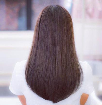 【✨広がる髪をツヤツヤストレート✨カット付き❣️自然にまとまる最高の指通り✨】カット+縮毛矯正