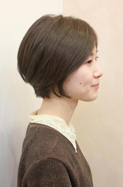 ダークアッシュがかわいい 重軽ショート coupe hair所属・田邊仁美のスタイル