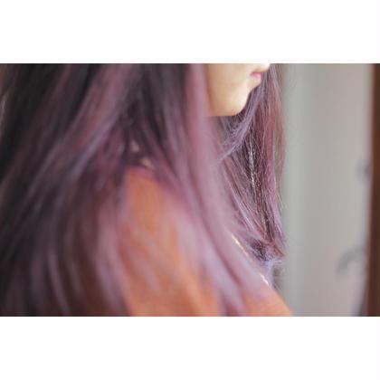 冬らしく、今年らしく、ピンクパープルわ最高 agree for hair所属・加納陸のスタイル