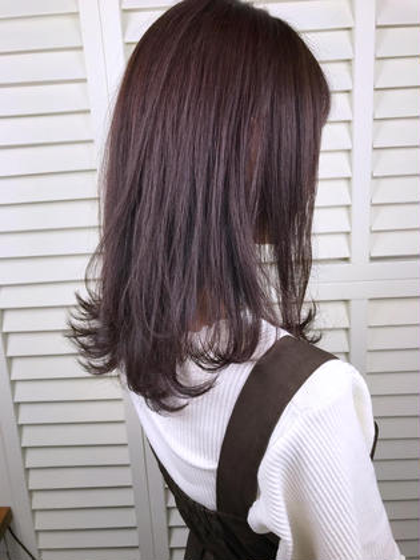 その他 カラー パーマ ヘアアレンジ ミディアム Real salon work💈 【 medium layer / pink lavender 】 . 黒髪初カラーからの ブリーチなし◎ピンクラベンダー🎆  《 希望は色落ちしても明るくなり過ぎないラベンダーカラー 》 日本人の地毛は約5〜6トーンくらい。 今回のカラーは、7,5トーンです⭕️ トーンUPし過ぎず暗めでも色味が分かるようにピンクをmixしてラベンダーに透ける色味にしました☆ . これからの季節にもピッタリな色味です☺︎ . 初めてのカラーもご相談下さい☺︎ . . #NAKAIstyle #初カラー#ブリーチなし#ピンクラベンダー#ミディアムレイヤー