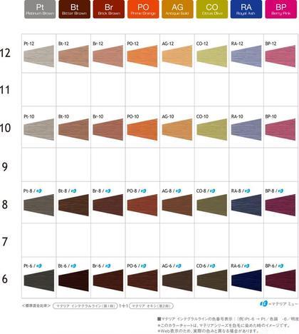 村上沙織のヘアカラーカタログ