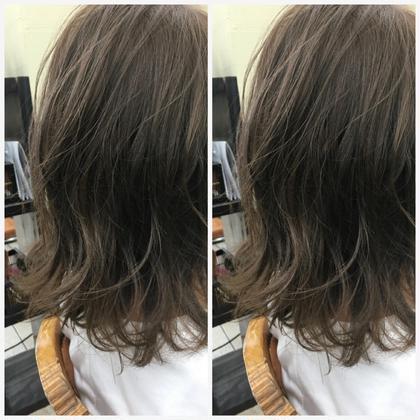 ブリーチなしでも ダブルカラーで透明感は出せます!  カットは動かしやすいように カットしてます! hair   LORAN所属・hairLORANのスタイル